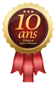 logo Garantie 10 ans pièces